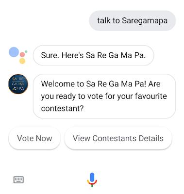 google assistant saregamapa
