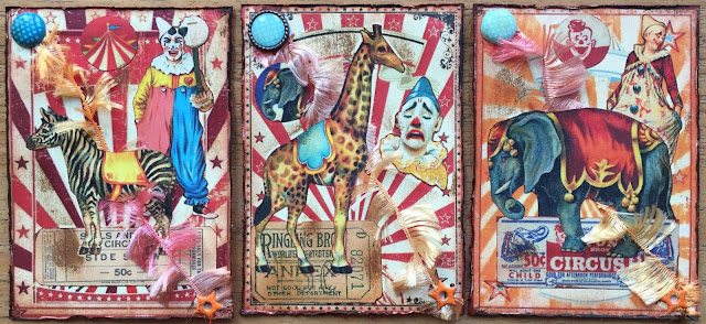 Vintage Circus ATC (Artist Trading Card)