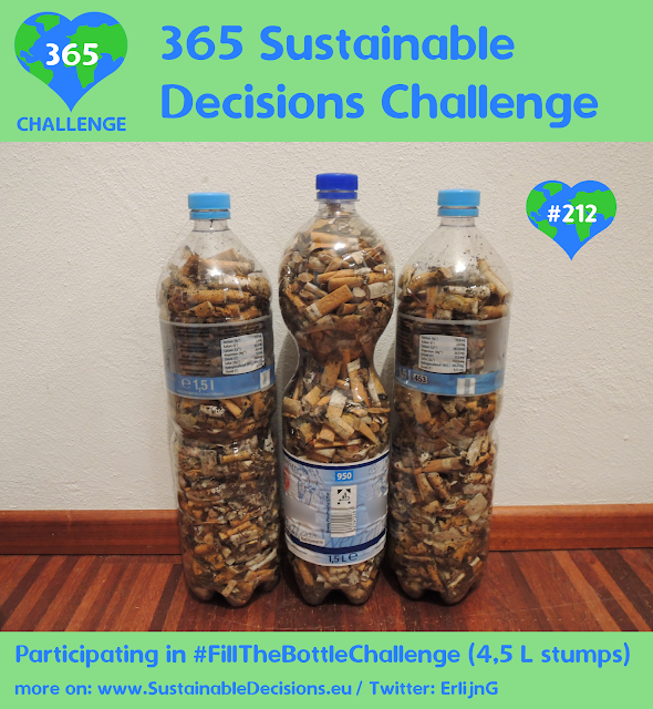Participating in #FillTheBottleChallenge cleaning environment sustainability sustainable living