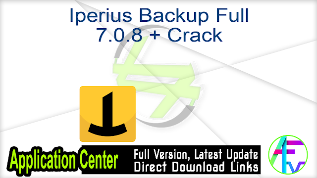 Iperius Backup Full 7.0.8 + Crack