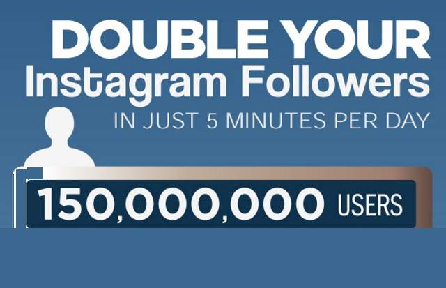 Image: Double Your Instagram Followers in Just Five Minutes a Day [Infographic]