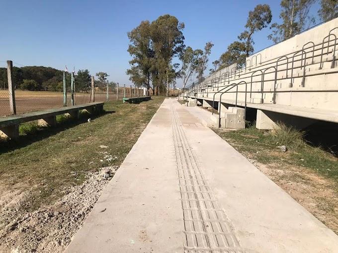 Arquibancadas do Módulo ganham calçada de acesso