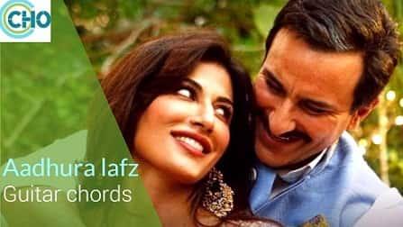 AADHURA LAFZ guitar chords Accurate   Baazaar   Rahat Fatah Ali Khan