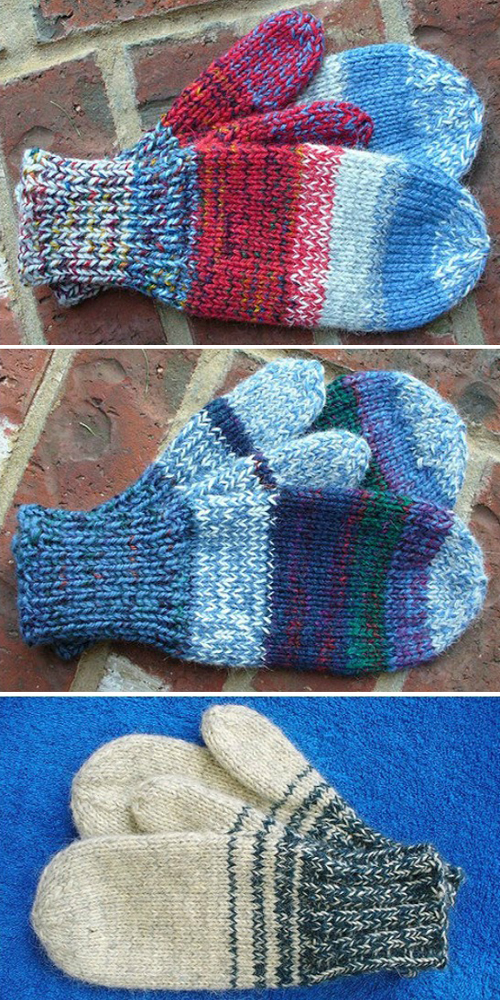 Quick & Easy Mittens - Free Knitting Patterns