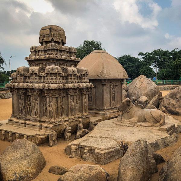 arjun draupadi ratha mahabalipuram photo