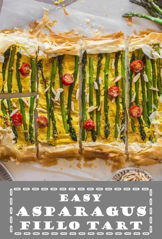 Easy Asparagus Fillo Tart #Asparagus #Tart #Pastry #Cake