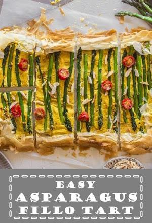 Easy Asparagus Fillo Tart