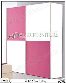 Lemari Pakaian Modern Minimalis Pintu Sliding Cube