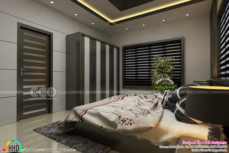 Modern master bedroom interior kerala home design and floor plans - Interior design master bedroom ...