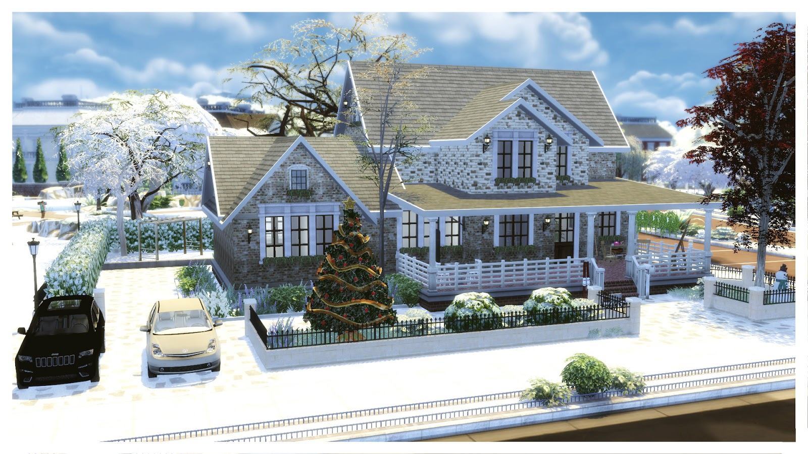 Sims 4 american christmas house house mods for for For house