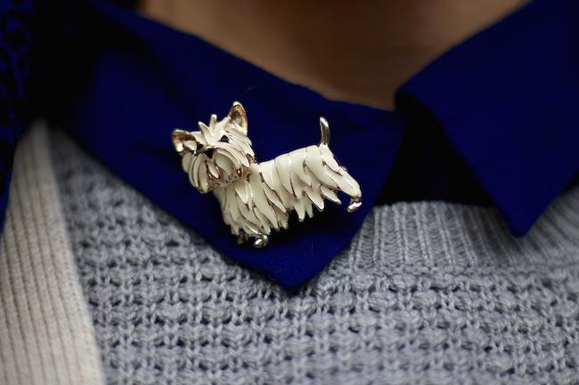 Fake Fabulous | Should older women dress casually? | Westie dog brooch