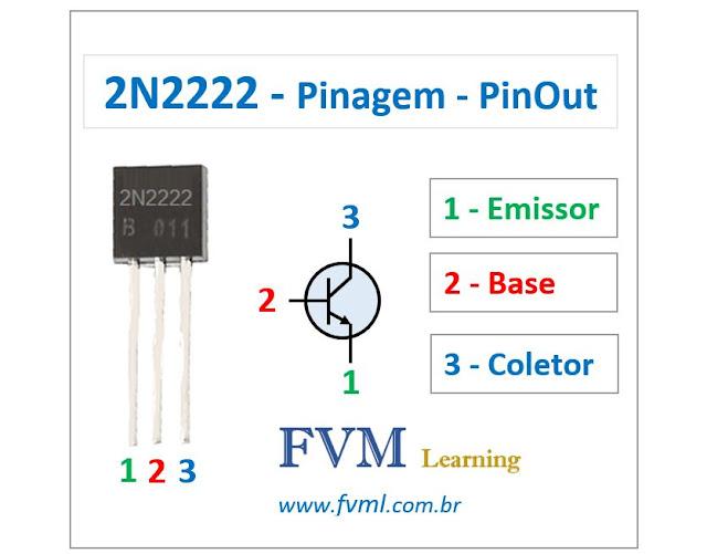 Pinagem - Pinout - Transistor - NPN - 2N2222 - Características