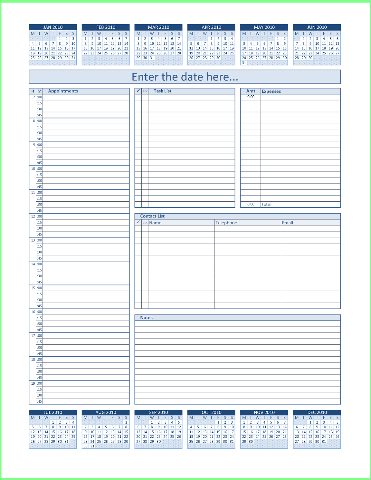 ... 2016 weekly planner template excel printable daily calendar printable