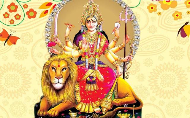 Best Maa Durga  Wallpaper In White Background