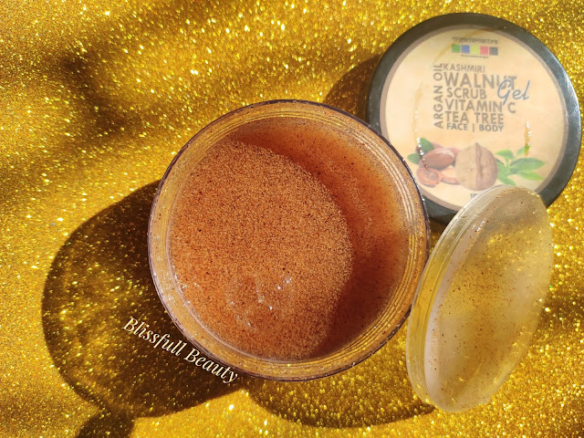 Organixmantra kashmiri walnut scrub gel Review