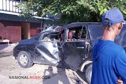 Mobil Innova Alami Kecelakaan di Bakongan Timur, Supir Dilarikan ke Rumah Sakit