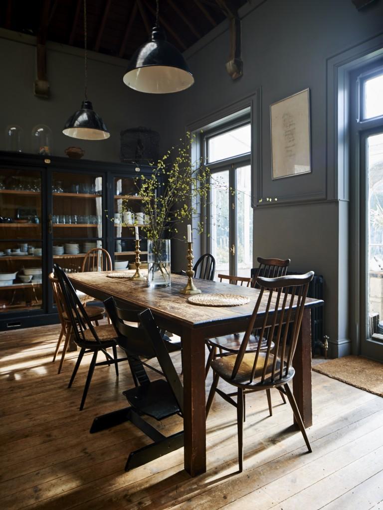 Una cocina de ensue o en tonos oscuros etxekodeco for Cocinas de ensueno