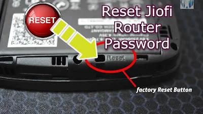 Reset Jio Wifi Router Password