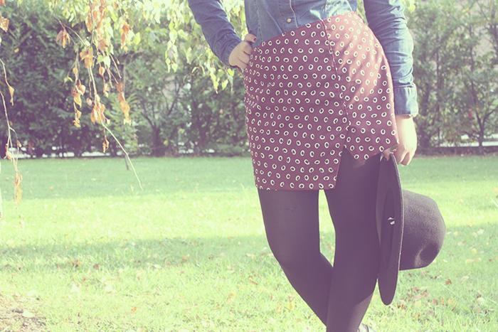 Falda Asimétrica Punto de Lu