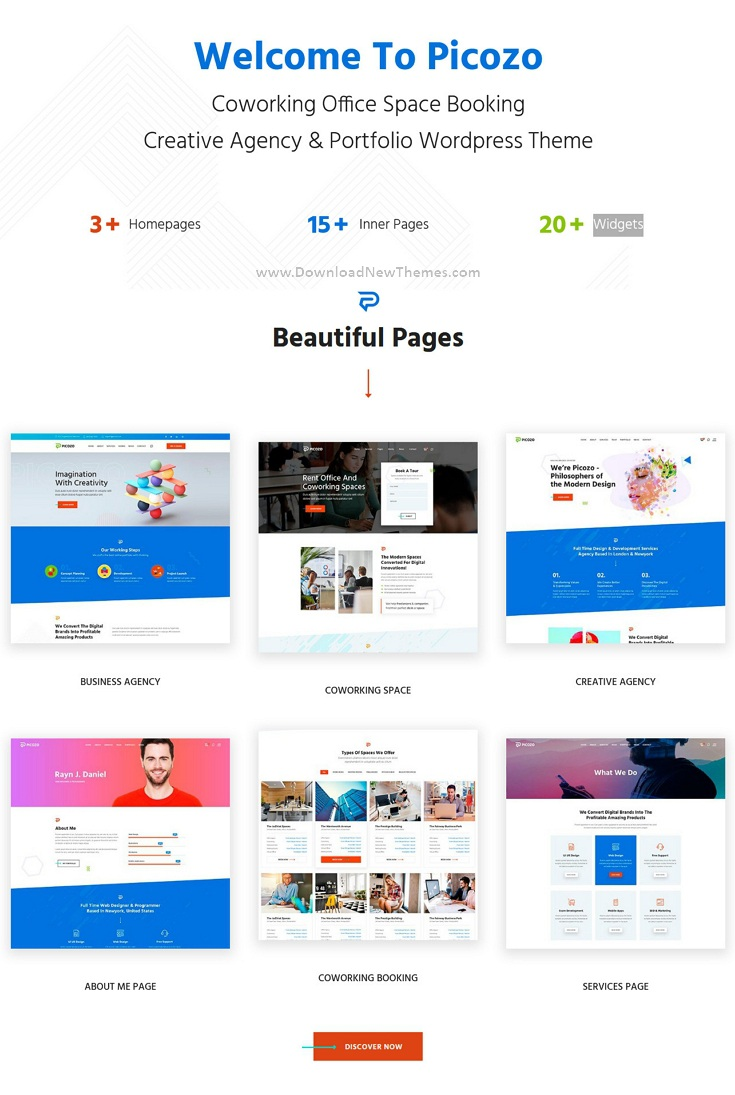 Best Coworking and Office Space WordPress Theme