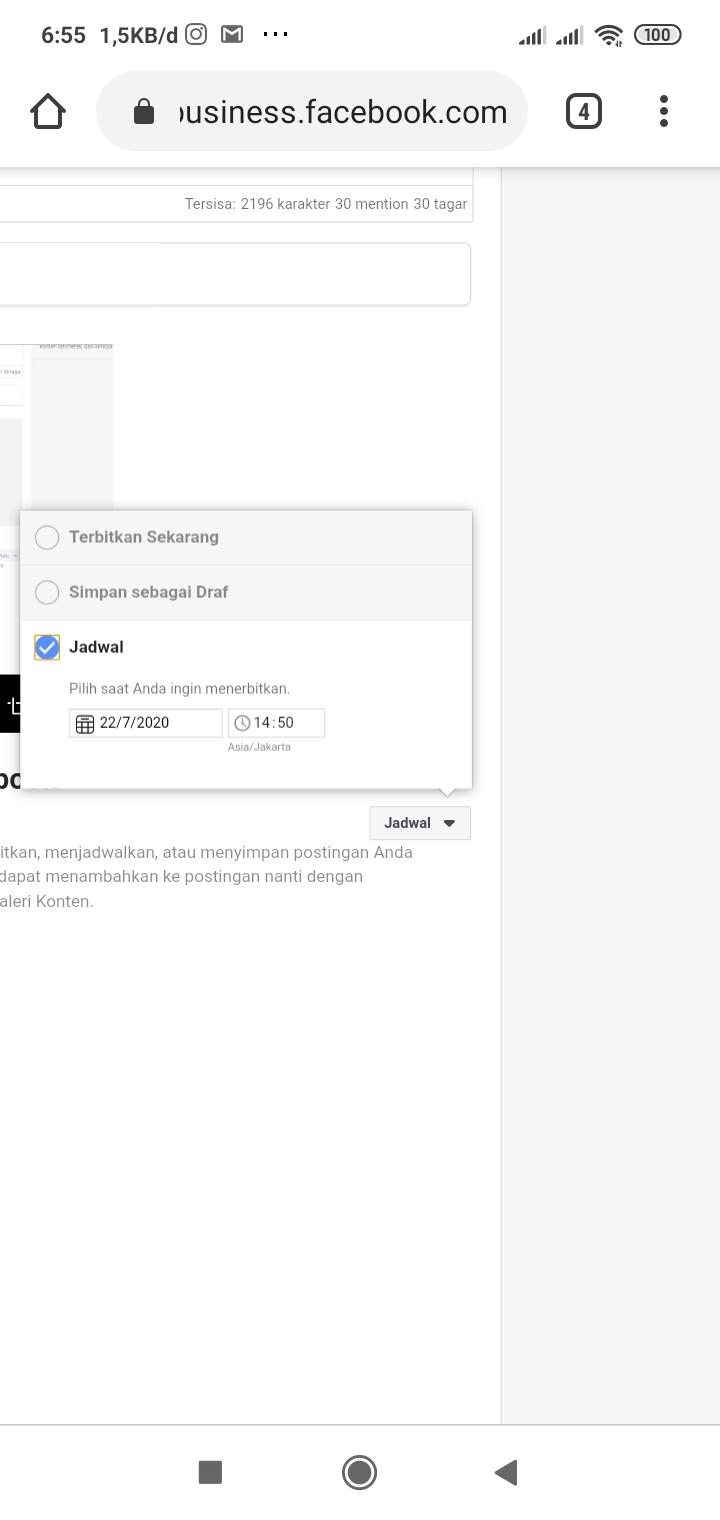 Cara Mudah Schedule Postingan Instagram Dan Facebook Page Di Android