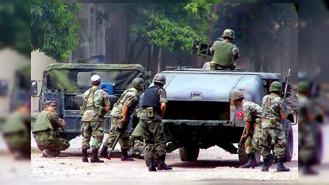 Reportan en enfrentamiento en Michoacán una docena de Militares muertos o heridos, tuvieron que sacar los helicópteros artillados para repeler la agresión