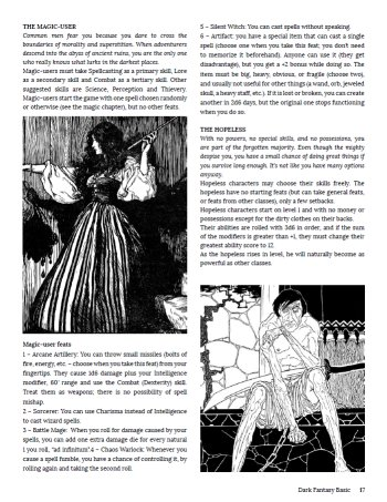 OSR News and Reviews: Dark Fantasy Basic Review — New School Meets