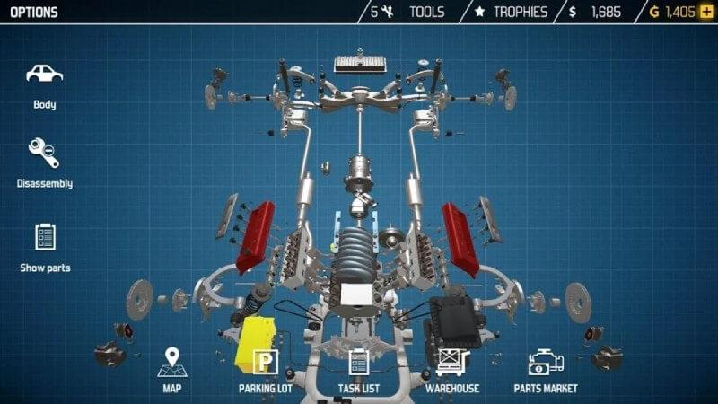 مميزات وإضافات لعبة Car Mechanic Simulator 2021