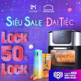 Lock&Lock khuyến mãi sinh nhật Lazada