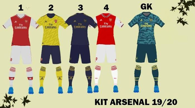 PES 2017 Arsenal Kits 2019-2020