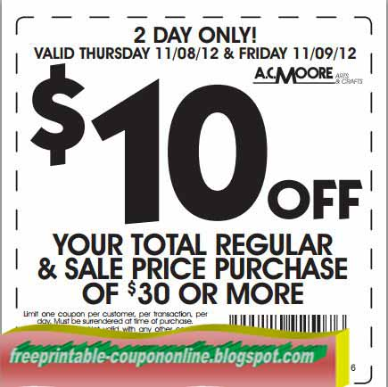 image relating to Ac Moore Printable Coupon identify Discount codes for ac moore craft shop / Rj reynolds coupon