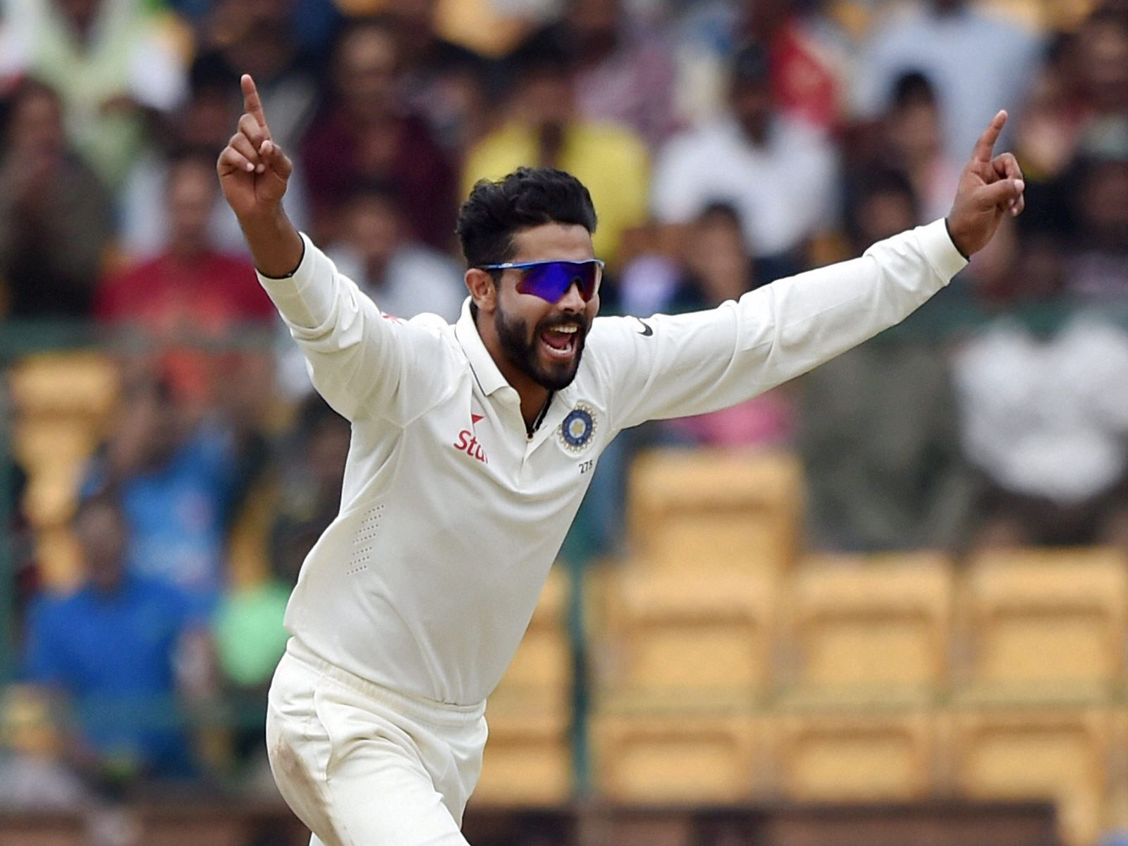 Ravindra Jadeja HD Images And Wallpapers With Playing Cricket