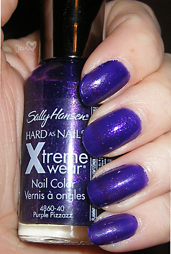 xoxoJen's swatch of Sally Hansen Purple Pizzaz
