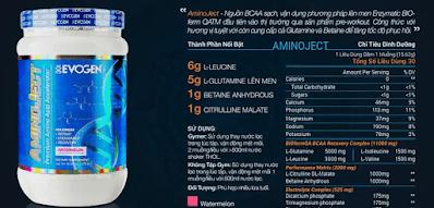 Aminoject™- Nguồn Cung Cấp Amino Acid Cao Cấp