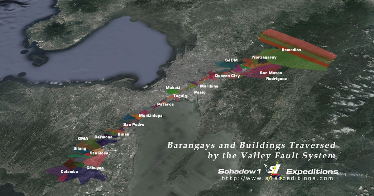 Barangays and Buildings Traversed by the Valley Fault