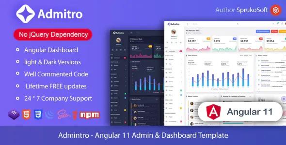 Best Angular Admin and Dashboard Template