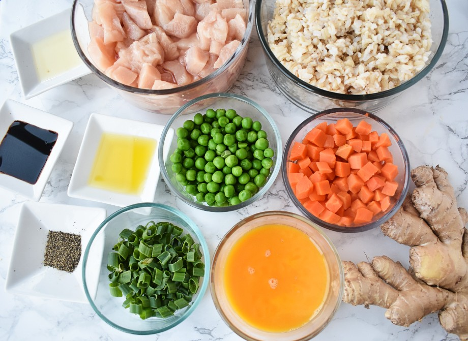 Ingredients for Healthy Chicken Fried Rice