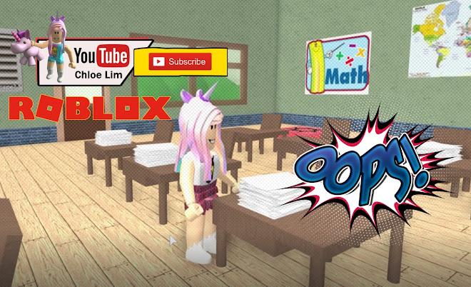 Chloe Tuber Roblox Escape High School Obby Gameplay