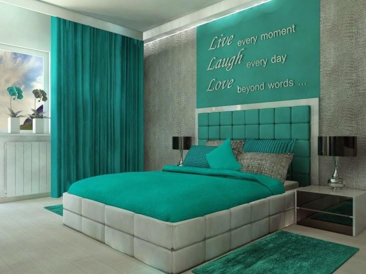 Dormitorios en color turquesa dormitorios colores y estilos for Dormitorio verde agua