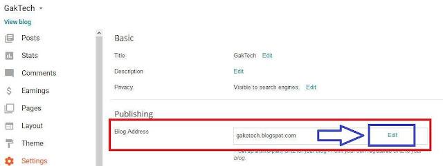 Ganti Nama Blog di Blogger