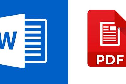Cara Menyimpan Word To Pdf Online dan Offline