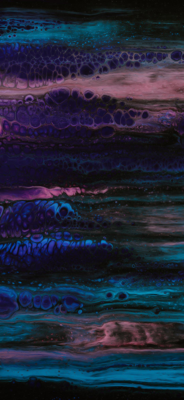 abstract dark blue ocean paint wallpaper