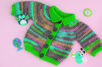 7 - Crochet Imagen Chaqueta a crochet para niño niña muy fácil y rápido por Majovel Crochet