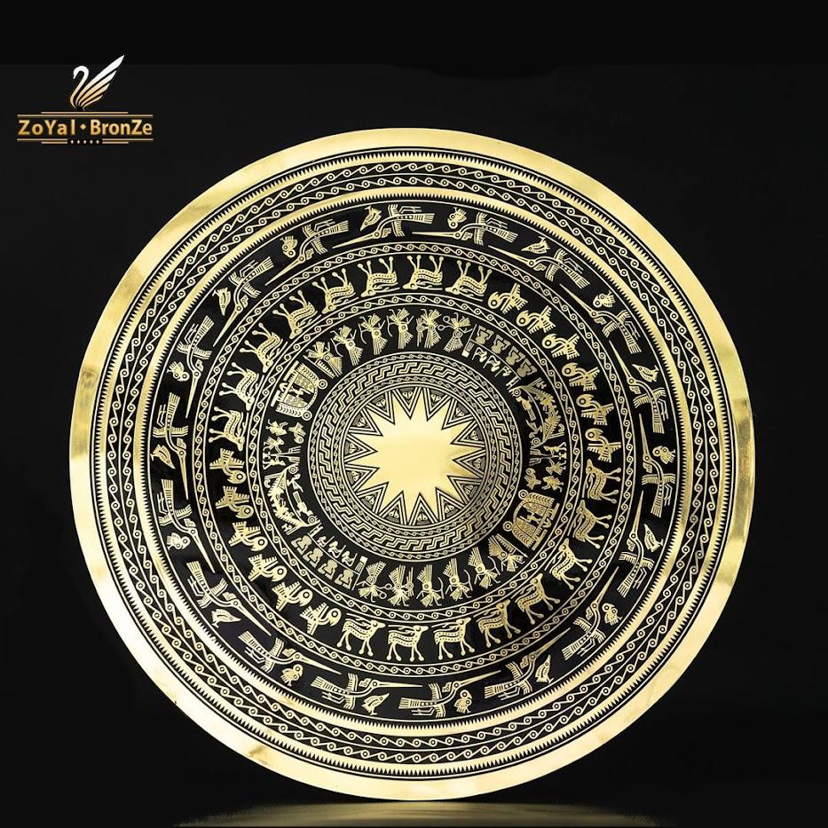 [A117] Mặt trống đồng mạ vàng - Quà tặng doanh nghiệp ý nghĩa