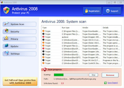 Antivirus 2008 - FakeAnts Fake Antivirus