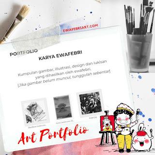 membuat art portfolio dengan google drive