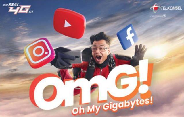 Paket Data Kuota OMG Telkomsel Gratis Buat Youtube, IG, FB