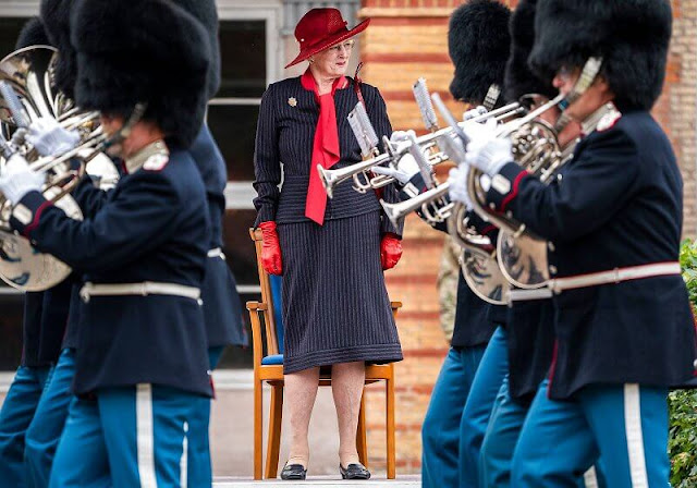 Queen Margrethe attended the Queen's Clock Parade 2021 held by the Royal Life Guards