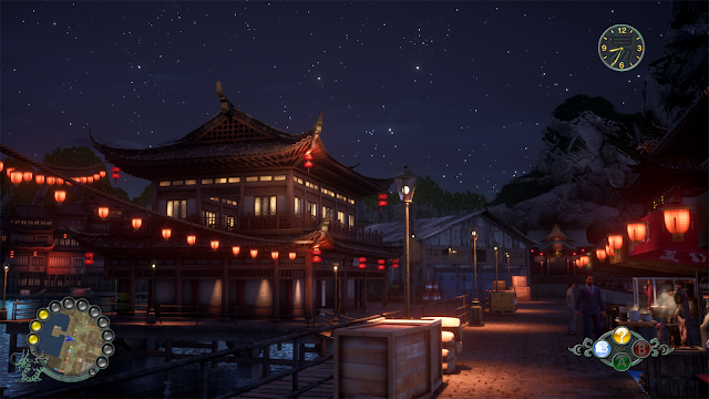 "Niaowu: ""lit up with the red lanterns at night against the starry sky"""