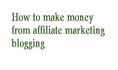 एफिलिएट मार्केटिंग ब्लॉगिंग से पैसे कैसे कमाए